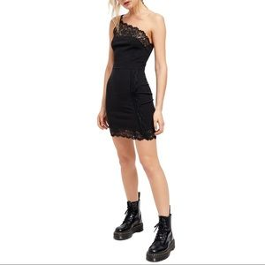 Free People Premonitions Lace Trim Bodycon Dress